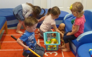 Busy little people at Dartmouth Pre-school